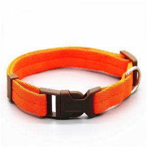Collier orange nylon ajustable