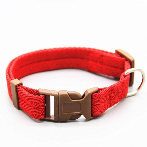 Collier rouge nylon ajustable