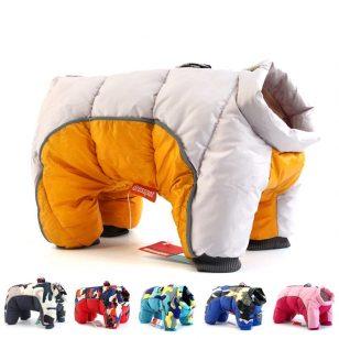 Manteau intégral chaud et imperméable pour chien